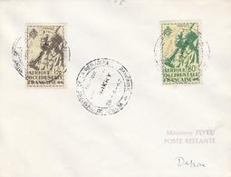 OBLIT. VISITE Du PRÉSIDENT De La RÉPUBLIQUE FRANÇAISE à CONAKRY Le 25.4.47 Avec Timbres AOF - Sénégal (1887-1944)