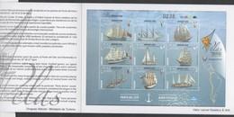 URUGUAY, 2018, MNH, SHIPS, SAILING SHIPS,  SHEETLET OF 9v IN BOOKLET - Ships