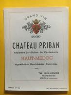 8289 - Château Priban 1950 Haut-Médoc - Bordeaux
