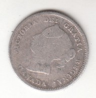 CANADA 1880 H  VICTORIA CANADIAN STERLING SILVER COIN - Canada