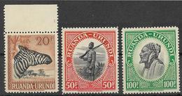 _3Rv-398:  N° 145/7 :  Zegels ..X : Met Spoor Scharniertje. .. Om Verder Uit Te Zoeken - Ruanda-Urundi