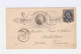 United States Postal Card; From Philadelphe To France. 1891. (2867) - Etats-Unis