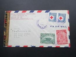 Zensurbeleg Honduras 1943 Air Mail / Luftpost Nach New York. Examined By 12534 - Honduras