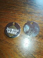 Jeton De Caddie Café Jacques Vabre. Argenté Dos Rien - Trolley Token/Shopping Trolley Chip