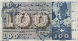 (B0056) SWITZERLAND, 1956. 100 Franken. P-49a. VG - Suiza