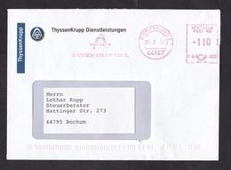 Germany: Cover, 2008, Meter Cancel,  Thyssen Krupp, Steel Factory, Logo, Metal Industry (minor Discolouring At Back) - Brieven En Documenten