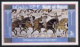11292 (battles) Oman 1978 Coronation 25th Anniversary (Bayeux Tapestry) Imperf Deluxe Sheet (2R Value) Unmounted Mint - History
