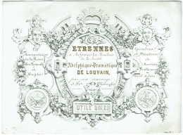 Carte Faire-Part Porcelaine. Société Adelphique-Dramatique De Louvain. Etrennes 1854. Lith. A.Joos. - Unclassified