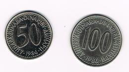JOEGOSLAVIE  50 + 100  DINARA  1986 - Yougoslavie
