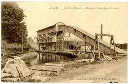 Lessines - Lessen. Carrières Unies. Chargeur Mécanique Bâteaux. Steengroeve. Mecanisch Botenlader. Circulé En 1933. - Lessines