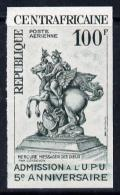 8649 (Sculpture) Central African Republic 1965 UPU (Statue Of Mercury) Imperf Col'r Trial Proof (several Different Combi - Escultura