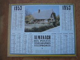 CALENDRIER DES PTT 1953 AU VERSO REPRODUCTION DE 1ER CALENDRIER POSTAL DE 1854 - Calendars