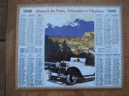 CALENDRIER DES PTT 1946 AU VERSO REPRODUCTION DE 1ER CALENDRIER POSTAL DE 1854 - Calendars