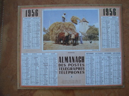 CALENDRIER DES PTT 1956 AU VERSO REPRODUCTION DE 1ER CALENDRIER POSTAL DE 1854 - Calendars