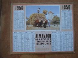 CALENDRIER DES PTT 1956 AU VERSO REPRODUCTION DE 1ER CALENDRIER POSTAL DE 1854 - Calendriers
