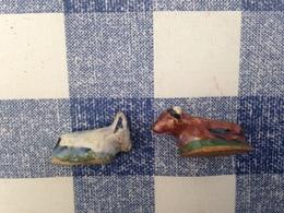 2/22 Feves Creche Ceramique Avant 1993 Aria Nordia Ane Boeuf - Santons