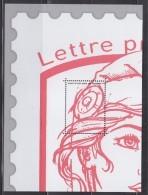 = Bloc Gommé Neuf Marianne Et La Jeunesse Lettre Prioritaire Phil@poste Sans Valeur 1/4 Timbre Type 4767 Ciappa Kawena - Sheetlets