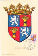 Carte-Maximum FRANCE N° Yvert 958 (GASCOGNE) Obl Auch (Ed Louis) - 1950-59