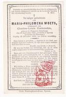 DP Maria Philomena Woets 26j. ° Tongeren 1847 † Ieper 1873 X Charles L. Costenoble - Images Religieuses