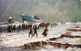 """Charles De Lacy  -  """"Ye Mariners Of England"""" : Launch Of The Lifeboat   -   9029 - Tuck, Raphael"""