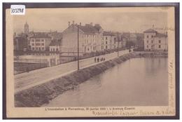 PORRENTRUY - AVENUE CUENIN - L'INONDATION DU 20 JANVIER 1910 - TB - JU Jura