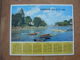 CALENDRIER DES PTT 1965 - Feuillets Avec Cartes & Horaires Pornic & L'Argentière En Automne - Calendars