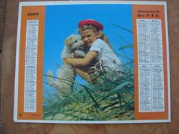 CALENDRIER DES PTT 1969 - Feuillets Avec Cartes & Horaires - Calendars