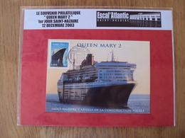 Queen Mary II   // Souvenir Philatélique //3631  FDC Premier Jour // 1 Enveloppe Max  // 2003 - FDC
