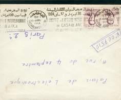 MAROC MOROCCO LETTRE OMEC 20 EME FOIRE DE CASABLANCA  1964  TB - Morocco (1956-...)