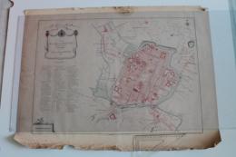 Carte De  Beauvais Telle Qu'elle était En 1789 Réalisée En 1889 A RESTAURER - Topographical Maps