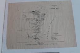Petite Carte De La Région De Thanh Hoa (Indochine) Tirage De 1885 - Topographical Maps