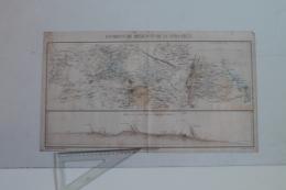 Petite Carte Des Environs De Mexico Et De Vera Crux (Mexique) Avec Profil De La Route Andriveau-Goujon - Topographical Maps