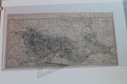 Carte De La Thrace  1854 Par Auguste Visquenel Signé Par L'auteur - Topographical Maps