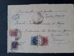 Maroc Espagnol - Marruecos - 1926 - Devant De Lettre Recommandée - Chargée Larache à Tanger - RARO - Maroc Espagnol
