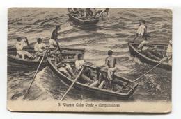 S. Vicente, Cabo Verde - Mergulhadores, Men Diving For Fish - Postcard From 1910 - Cape Verde