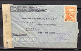 1942    Angola, Lettre Vers Bunia Ouverte Par Censure - Angola