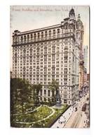 USA NY New York Trinity Building And Broadway Cachet 1911 - Cafés, Hôtels & Restaurants