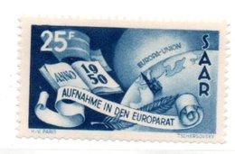 Sarre / N 277 / 25 Francs Bleu / NEUF** - 1947-56 Occupation Alliée