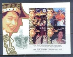 H21- St Kitts Queen Elizabeth Golden Jubilee 2002. - Royalties, Royals