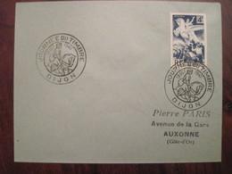 Lettre Enveloppe 1945 Tampon Cachet Journée Du Timbre DIJON - Marcofilie (Brieven)