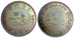 03744 GETTONE JETON TOKEN AMUSEMENT PARK OASI PARK ROMA - Unclassified