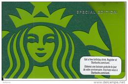 CANADA - Starbucks Logo, Starbucks Card, CN : 6066, Unused - Gift Cards
