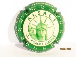 """Capsules Ou Plaques De Muselet Mousseux Crémant D'Alsace ALSACE  """"L"""" COMME LIBERTÉ - Sparkling Wine"""