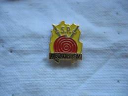 Pin's Des Sapeurs Pompiers De La Commune De WECKOLSHEIM (Dépt 68) - Bomberos