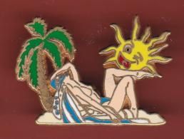 52814-Pin's.Pin Up.soleil..signé..Ballard. - Pin-ups