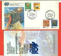 Malasia 1994.World Islamic Civilization Festival 1994.FDC.With Booklet. - Malaysia (1964-...)