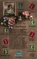 Langage Des Timbres - Semeuse 5c à 25c, Femme Dans Un Timbre - Briefmarken (Abbildungen)