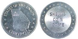 01895 GETTONE JETON TOKEN ADVERTISING SHELL STATES OF THE UNION GEORGIA - USA