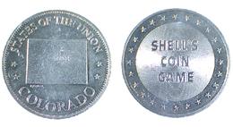 01891 GETTONE JETON TOKEN ADVERTISING SHELL STATES OF THE UNION COLORADO - USA