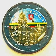 LITUANIE 2017 - 2 EUROS - VILNIUS - COULEUR - FARBE + CAPSULE MODELE N° 1 - Lituania